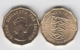 Jersey Coin -3d UNC 1966 (1/4 Of Shilling) - Jersey