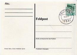 Postal History: Germany Military Card Feldpost Somalia 1993 - Militaria