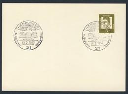 Deutschland Germany 1967 Card / Karte - 4. Bezirks-Werbeschau - Industriestadt Hamburg / Exhibition - Treinen