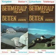 Dépliant Touristique C1965 - BETTMERALP / BETTEN - Valais - Suisse - 2 Scans - Dépliants Touristiques