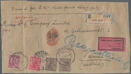 Aden: 1925/1936, India, Attractive Lot Of Ca.90 Used Stamps With Various Types Of ADEN-CAMP Postmark - Jemen
