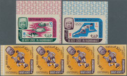Aden: 1966/1967, Lot Of 2370 IMPERFORATE Stamps MNH, Mostly Quaiti State In Hadhramaut, Some Of Seiy - Jemen