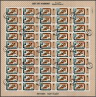 Aden - Qu'aiti State In Hadhramaut: 1967, 75f. Olympic Games Mexico '68, Accumulation Of 6.950 Stamp - Jemen