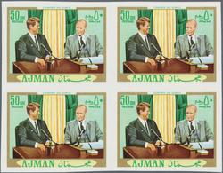 Adschman / Ajman: 1964/1972, MNH Accumulation In Glassines Incl. Souvenir Sheets, Imperfs, Nice Rang - Ajman