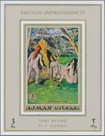 Adschman / Ajman: 1970/1971, MNH Accumulation Of SOME THOUSAND Souvenir Sheets/de Luxe Sheets, Mainl - Adschman