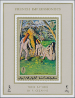 Adschman / Ajman: 1970/1971, MNH Accumulation Of SOME THOUSAND Souvenir Sheets/de Luxe Sheets, Mainl - Ajman