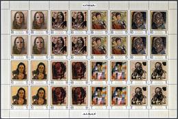 Adschman / Ajman: 1971/1972, MNH Lot Of Complete Sets Within Se-tenant Sheets: Michel Nos. 670/77 A/ - Ajman