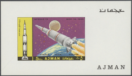 Adschman / Ajman: 1971/1972, U/m Collection Of Apprx. 386 De Luxe Sheets With Apparently Only Comple - Adschman