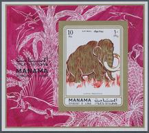 Adschman - Manama / Ajman - Manama: 1970/1972 (ca.), Collection In Stockbook With About 275 Differen - Manama