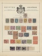 Ägypten: 1856-1888, Gehaltvolle Prachtsammlung, Dabei Die Erste Ausgabe (Mi.Nr. 1-7) Komplett, Zu Er - 1866-1914 Ägypten Khediva