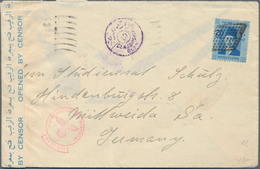 Ägypten: 1880's-1950's: About 115 Covers, Postcards And Postal Stationery Items, With Various Franki - 1866-1914 Ägypten Khediva