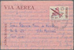 Argentinien - Ganzsachen: 1895/1990 (ca.) AEROGRAMMES Accumulation Of Ca. 316 Mostly Unused And Unfo - Ganzsachen