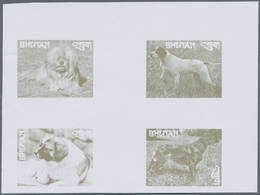 Bhutan: 1964/1988 (ca.), Duplicated Accumulation In Large Box With Mostly IMPERFORATE Single Stamps, - Bhutan