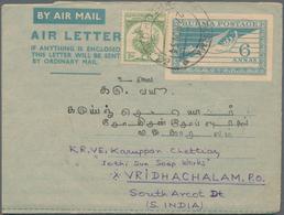 Birma / Burma / Myanmar: 1946/85 Ca. 100 Unused/CTO-used And Commercially Used Aerograms, Many Unfol - Myanmar (Burma 1948-...)