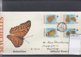Seychellen Michel Cat.No.   FDC 629/632 Butterflies - Seychelles (1976-...)