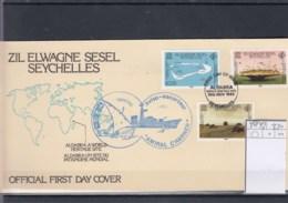 Aussere Seychellen Michel Cat.No.  FDC 40/42 Aldabra - Seychelles (1976-...)