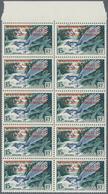 Französische Gebiete In Der Antarktis: 1955, Madagascar 15fr. Bird 'Uratelornis Chimaera' With Red O - Französische Süd- Und Antarktisgebiete (TAAF)