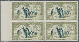 Französische Gebiete In Der Antarktis: 1956, Emperor Penguin Airmail Set Of Two (50fr. And 100fr.) I - Französische Süd- Und Antarktisgebiete (TAAF)