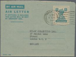 Indien - Ganzsachen: 1948/90 (ca.) AEROGRAMMES Accumulation Of Ca. 577 Airletters Mostly Unused Or C - Ganzsachen