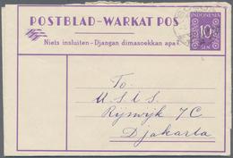 Indonesien: 1949/97 (ca.), Stationery Envelopes (warkat Pos / Postblad) Specialized Stock: 10 S. (mi - Indonesien