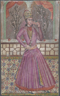 Iran: 1870-1900 Ca., Four Old Paintings On Paper, Minor Faults, Fine Group - Iran