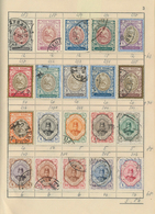 Iran: 1890/1950 (ca.), Assortment Of Apprx. 380 Mint And Used Stamps In An Uncirculated Approval Boo - Iran