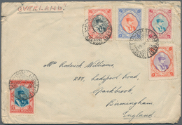 Iran: 1900-60 Ca., 86 Covers And 25 Mint And Used Postal Stationerys In Album, First Flights And Air - Iran
