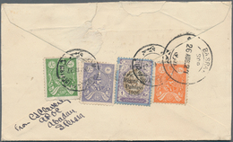 Iran: 1908-34, Group Of 5 Covers From Persia And Three Covers From India To Persia, With Colourful F - Iran