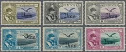 "Iran: 1935, ""IRAN"" Overprinted Issue 13 Values Showing Overprint Varieties, Off-set Prints, Mh / Mnh - Iran"