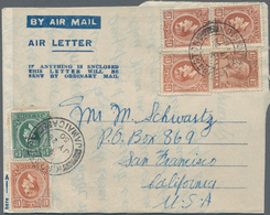 Jamaica: 1947/1995 (ca.) Aerogrammes Ca. 265 Used/unused/CTO Airletters Incl. Specimen And Postal Fo - Jamaica (1962-...)