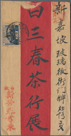 Japanische Verwaltung Von Taiwan: 1928/1931, Five Redband Letters From TAIHOKU/TAIWAN Sent With Japa - 1945 Japanisch Besetzung