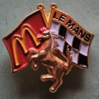 Pin's Mc Donald's - LE MANS 72 SARTHE - 24H DU MANS - FERRARI - McDonald's