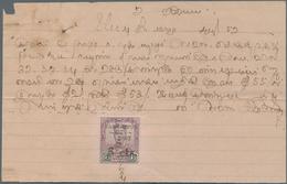 Japanische Besetzung  WK II - Malaya: Johore, 1942, Fiscal Usage: Dai Nippon 2602/6 Cts On $1 Tied M - Malaysia (1964-...)