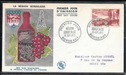 FDC 1955 - 1036  Série Touristique: La Région Bordelaise - FDC