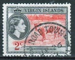 British Virgin Islands 1956 Queen Elizabeth Single 2 Cent Stamp From The Definitive Set. - British Virgin Islands