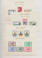 Kambodscha: 1957/1968, Specialised Assortment Incl. Four Souvenir Sheets, 1960 Peace Issue Imperfora - Kambodscha