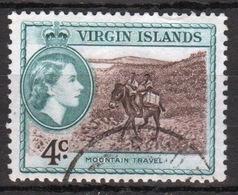 British Virgin Islands 1956 Queen Elizabeth Single 4 Cent Stamp From The Definitive Set. - British Virgin Islands
