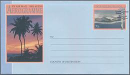 Kokos-Inseln: 1992, Accumulation With 75 Complete Sets Of Three Different AEROGRAMMES 70c. Showing I - Kokosinseln (Keeling Islands)