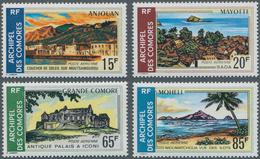 Komoren: 1971, Landscapes Complete Set Of Four (Moutsamoudou On Anjouan, Sada On Mayotte, Iconi On G - Komoren (1975-...)