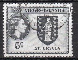 British Virgin Islands 1956 Queen Elizabeth Single 5 Cent Stamp From The Definitive Set. - British Virgin Islands
