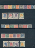 """Libyen: 1943-52 Ca., Collection Of """"British & French Occupation"""" On Ten Album Pages, Complete Mint, - Libyen"""