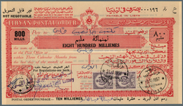 Libyen: 1957 - 1959, Wonderful Lot Of Libyan Postal Stationerys - Postal Orders - From 100 Milliemès - Libyen