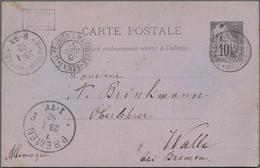 Madagaskar: 1891/1936 21 Unused And Used Postal Stationery Cards, Lettercards, Envelopes And Wrapper - Madagaskar (1960-...)