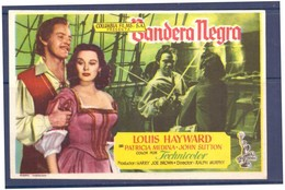 Programa Cine. Bandera Negra. John Sutton. Patricia Medina. 1952. EEUU. Sello Del Cine Alcazar. Tanger. Marruecos. - Manifesti & Poster