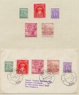 Nepal: 1907-68, Collection Of More Than 140 Stamps, Mostly Mint, And 14 Covers And FDCs, With Comple - Nepal
