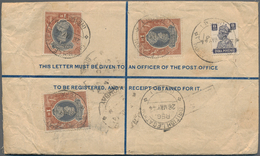 Nepal: 1940's-50's: Collection Of 20 Postal Stationery Registered Envelopes And Covers From NEPAL To - Nepal