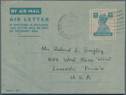 Nepal: 1946-1970's: Collection Of About 60 Aerogrammes, All Used, From Three Indian Air Letter Sheet - Nepal