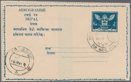 Nepal: 1959-1994 AEROGRAMMES: Collection Of About 50 Aerogrammes, Mostly Used Postally, Few Cancelle - Nepal