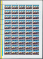 Nepal: 1975 'Ganesh Himal' 2p.: 200 Complete Sheets Of 50 (= 10,000 Stamps), Mint Never Hinged, As O - Nepal