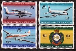 British Virgin Islands 1968 Queen Elizabeth Set Celebrating The Opening Of The Beef Island Airport. - British Virgin Islands